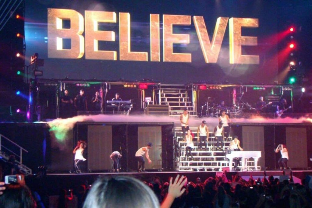 songs of empowerment for girls such as BELIEVE | Justin Bieber concert