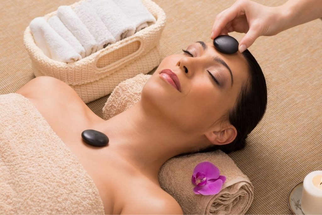 woman getting massage therapy for positive selfishness
