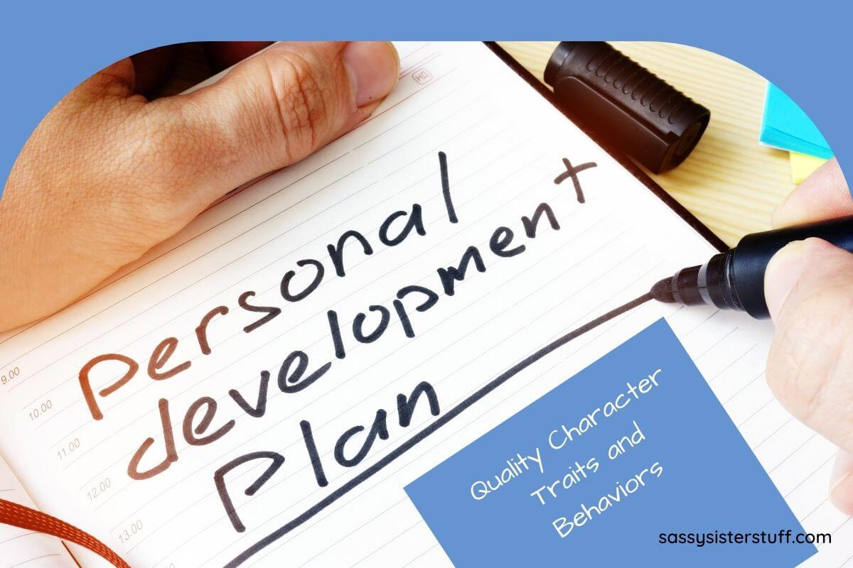 personal development plan being written on a white notepad