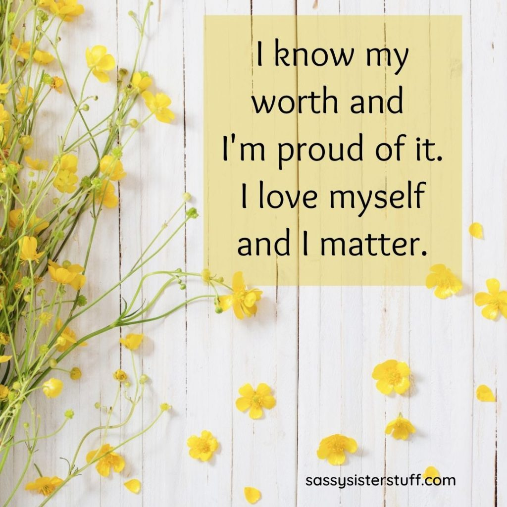 yellow flowers with a self quote quote