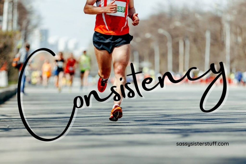 marathon runner showing that consistency is the key to winning