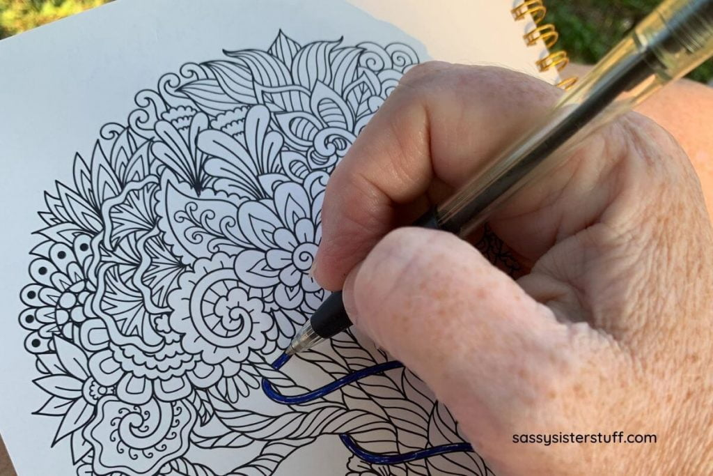 coloring page from a silk and sonder journal